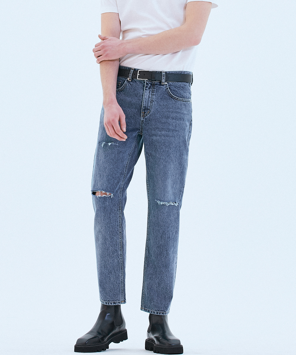 OWNER 062 Tapered fit urban crew jeans Fine blue